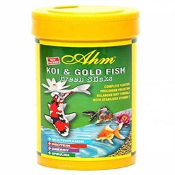 AHM Koi Goldfish Green Pond Sticks 250 ml